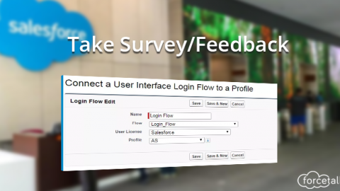 Take Survey/Feedback using Login Flows