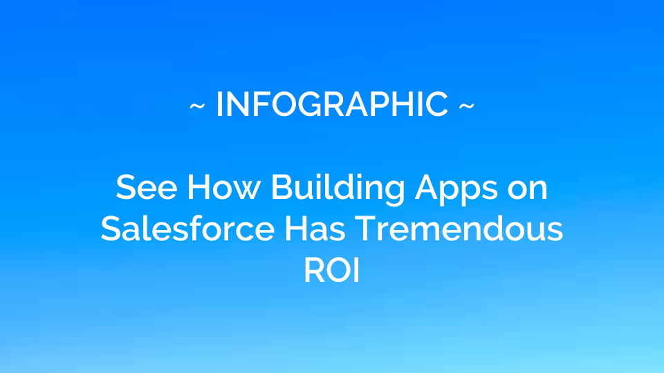 See How Building Apps on Salesforce Has Tremendous ROI